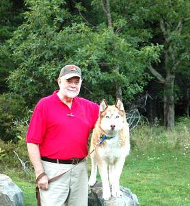 Pete & Buddy, his faithful compaion BMCG Aug 2010 .jpg