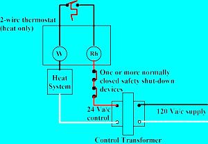 2 wire thermostat wiring diagram heat only schematics and wiring house wiring diagram american standard thermostat thermostat for wall or floor furnace hvac problem solver