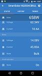 Midday sun, solar output. Victron smart solar 100/50