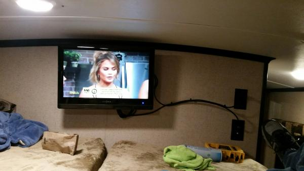 TV added in loft