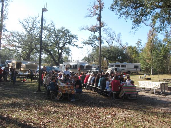 Beautiful weather and large turn out made a great Thanksgiving celebration in 2011