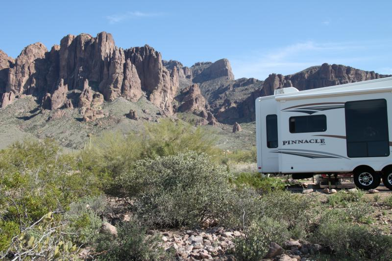 Lost Dutchman State Park  in Arizona.