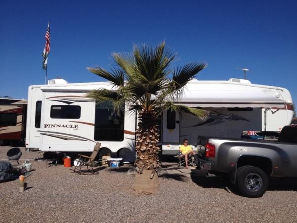 Our Winter site at Casa Grande RV Resort