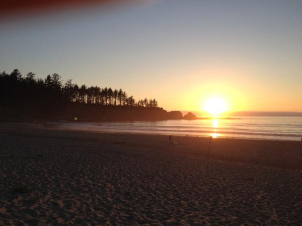 One of the many gorgeous sunsets in Coos Bay.