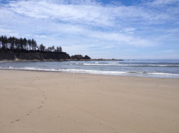 Our beach in Coos Bay...one of our favorites on the Oregon coast.