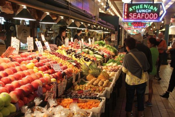Pikes Public Market in downtown Seattle.