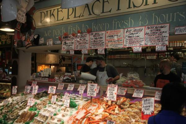 Pikes Public Market in downtown Seattle.