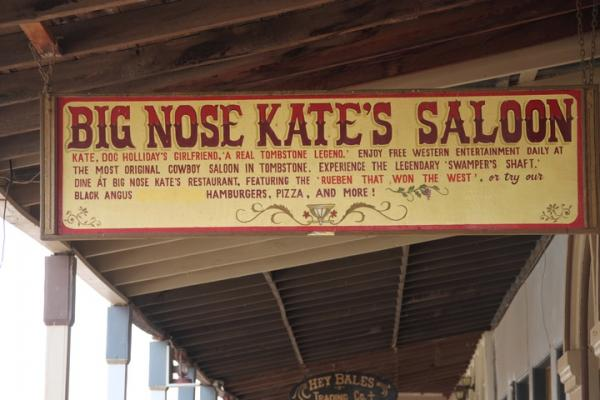 Big Nose Kate's Saloon entrance.
