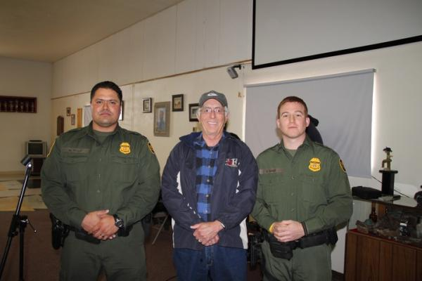 Border patrol put on an informative presentation at Tombstone Territories RV Park the day before we left.