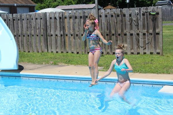 1st 2 in the pool this summer