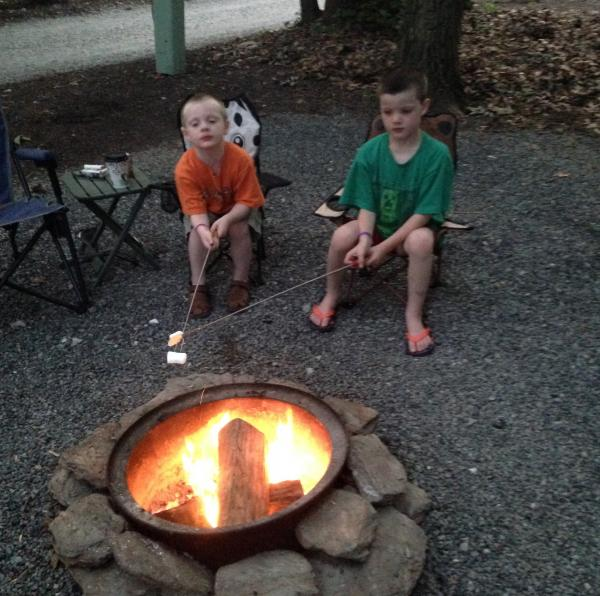 Dueling marshmallows.