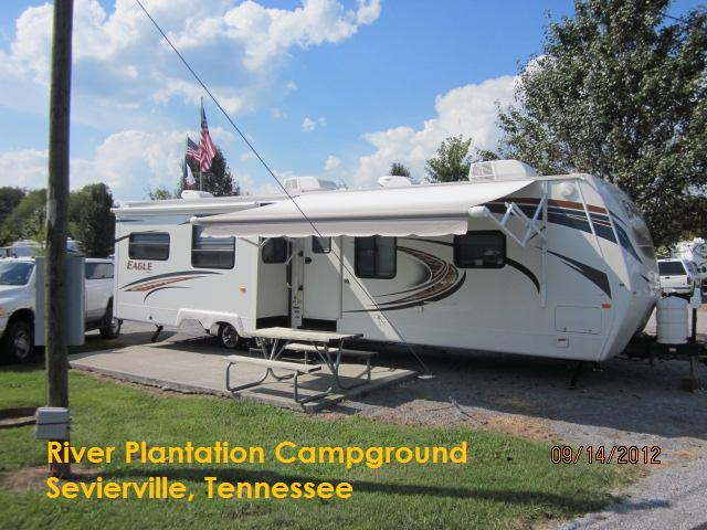 Our Unit at River Plantation Campground, Sevierville, TN