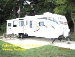 Our Unit at Follow the River RV Resort, Vevay, Indiana