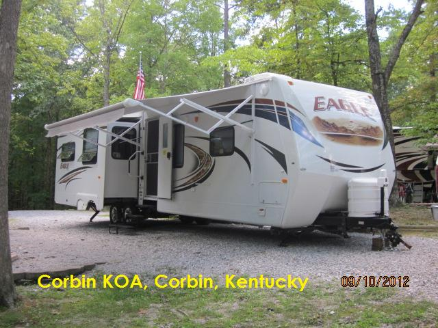 Our Unit at Corbin KOA, Corbin, Kentucky