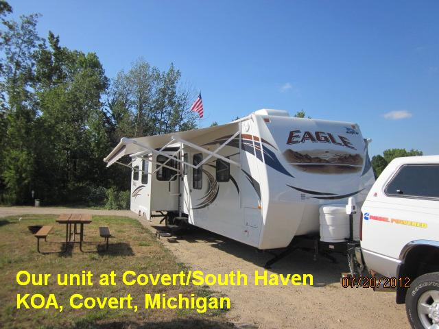 Our Unit at Covert & South Haven KOA, MI