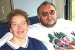 Donna and I on Branson Railway