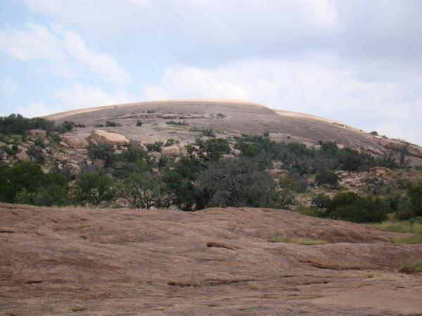 Enchanted Rock State Park. No RVing in park, only tents.