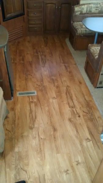 new vinyl floating floor