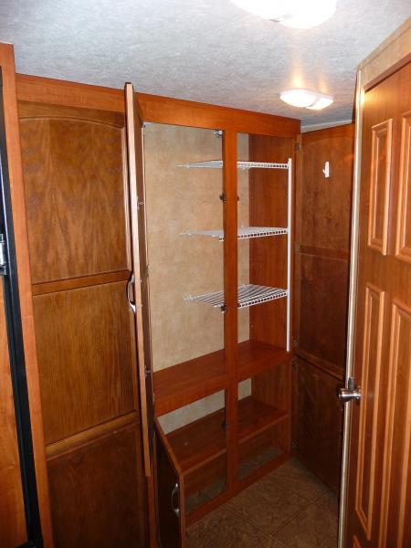 pantry with added shelving installed by previous owner.