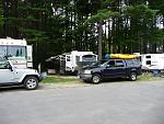 This is along the Ausable River, the campground has sites across the street, more spacious and wooded lot.