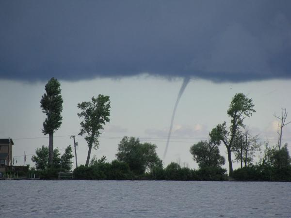 Waterspout over sodus bay ny