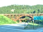East gateway into Custer State Park and passes through parts of Black Hills National Forest and Mt. Rushmore National Monument.  One of many wooden...