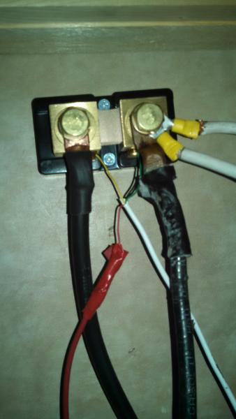 This is a completed wiring install.  The connector on the left runs a single negative 2 AWG wire to the negative post of the battery bank, the post on the right side of the shunt has all of the negative wires that previously would have been connected to the negative post of the battery bank.  The light gauge 4-22 AWG wires are all connected directly to the meter.