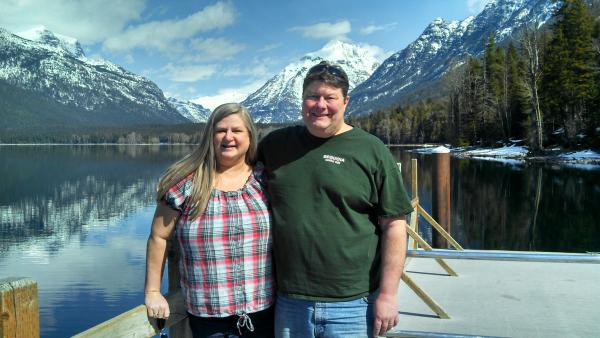 This is McDonald Lake, on the boat dock next to McDonald Lake Lodge.  Taken March 28, 2013, our wedding anniversary was a quick expedition including the park, distillery's & breweries before ending at a riverside cottage get away.  Fun day!