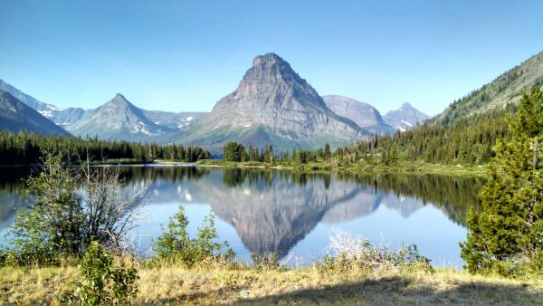 2014 - Camped on Two Medicine Lake.  Can you believe what you can capture with a cell phone?