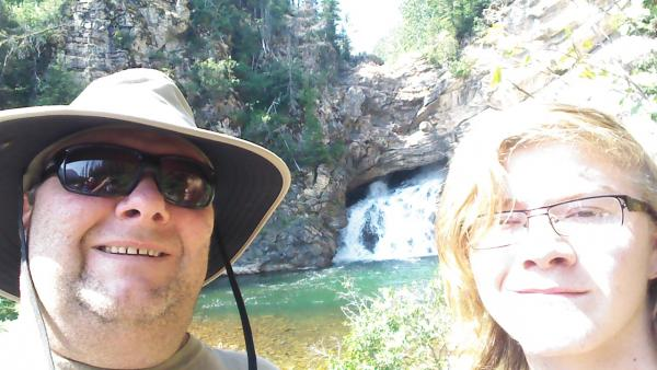 2014 -  My boy Wyatt & I taking a stroll to Running Eagle Falls, near Two Medicine CG.