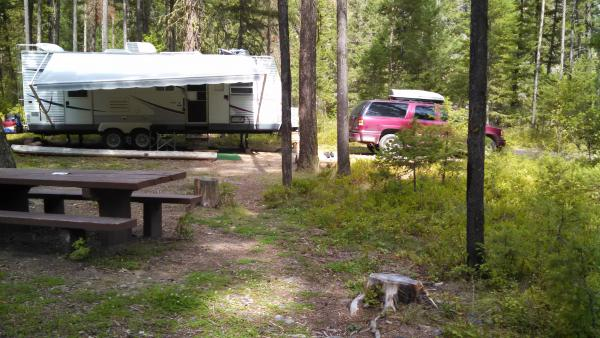 Site #7, Dalles Campground, Rock Creek, MT