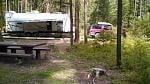 Site #7, Dalles Campground, Rock Creek, MT