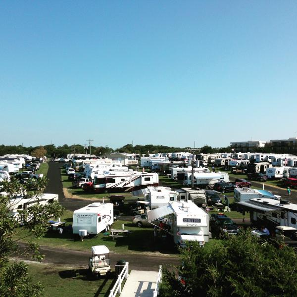Overview of Holiday Travel Park, Emerald Isle, NC