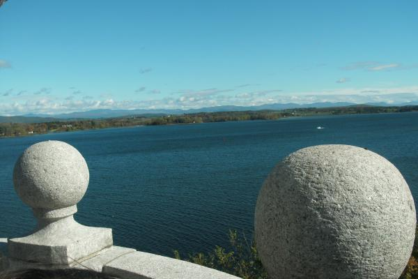 Picture of Lake Champlain from top of the light house, Crown Point campground