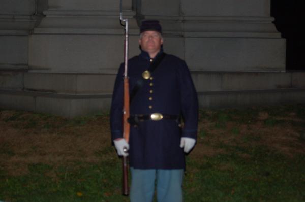 standing watch Gettysburg Pa. 2012