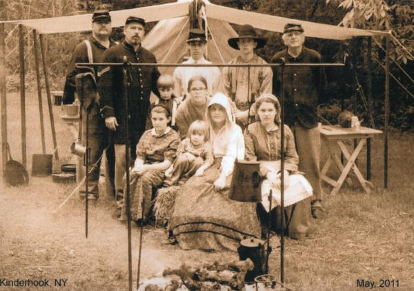 the kid's around the Camp fire @ Kinderhook, Ny. In the beginning of the war many officers brought their family's to war with them. this didn't last too long. when the officer was killed most family's had no means to return home.
