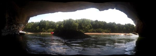 Buffalo River. We found some shade.