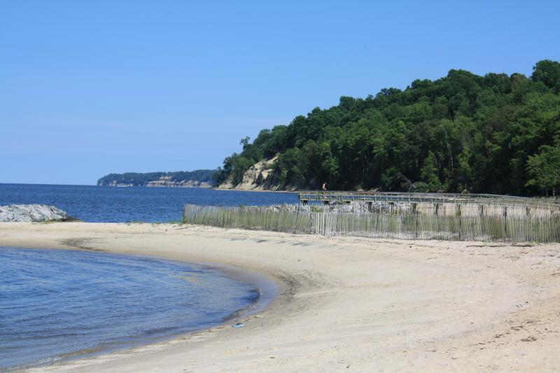 The Potomac River beaches at Westmoreland SP.