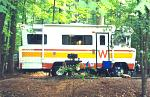 The 75 Winnebago Brave D-21 at Virginia's Fairystone State Park. The Dodge M series chassis was a tough one.  Dodge 440 powered.