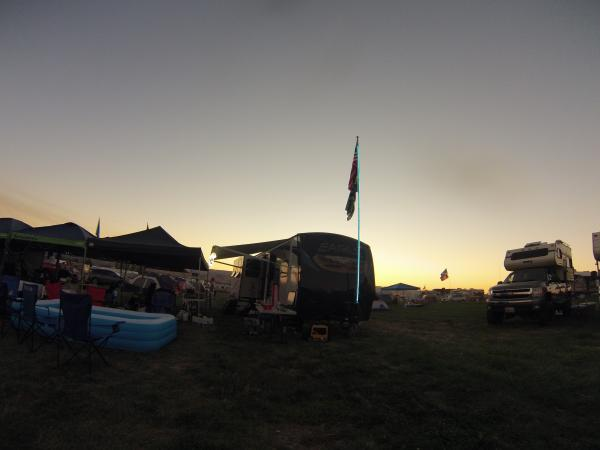 Music festival campsite