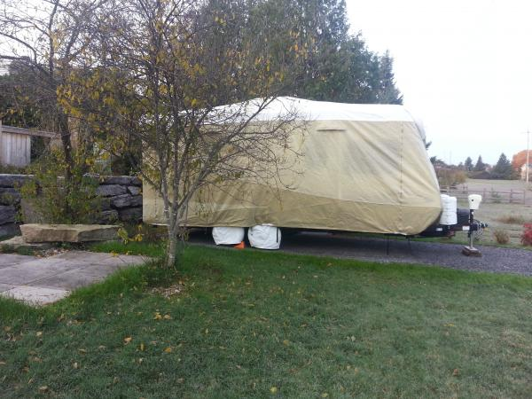 Trailer Stored in Backyard