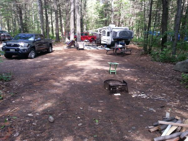 Site 110 at Bon Echo.  Nice and Large up here in Canada Eh?