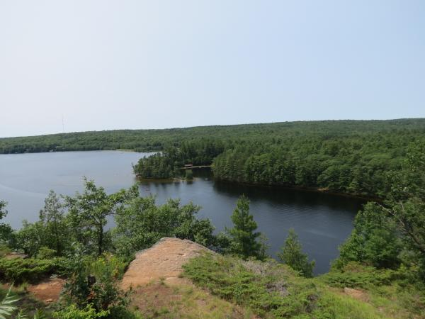 View from the trail that runs along the top of Mazinaw Rock