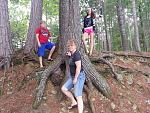 My friend and her son along with my Daughter. Just one of the neat things to see along one of the many trails at Bon Echo.
