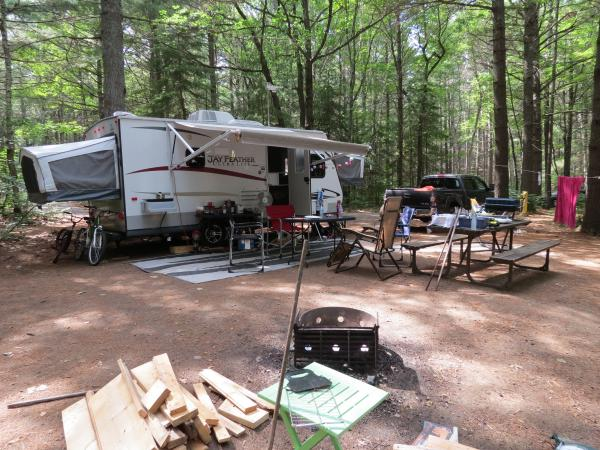 Setup on Site 121 at Bon Echo.