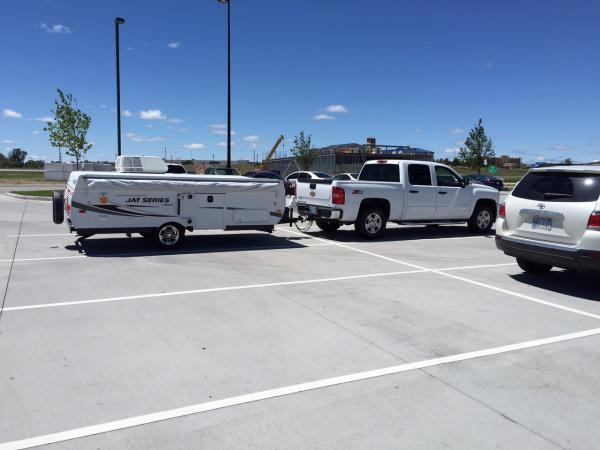 2014 Jayco 1207 with my new 2007 chevy crewcab Z71