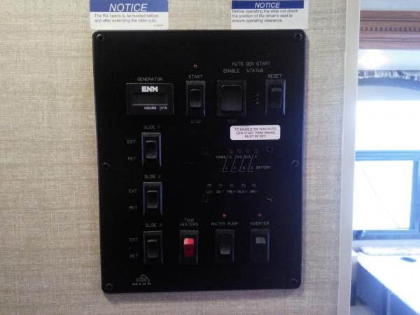 New power panel with lp gas level