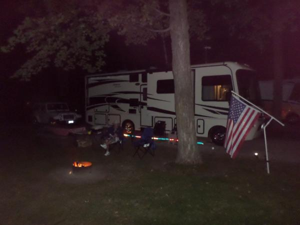 Wonderful, comfortable, shaded campsite at Hy-Land Court RV Park, Door County, WI (Ellison Bay, WI) 5* IMHO.  Definite return for CG & Door County August, 2015