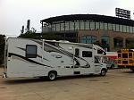 Being Big has it's advantages. They put us in with the buses. White Sox vs. Blue Jays at US Cellular Field.