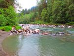 South Fork Stilliquamish River from campsite 5-27-15